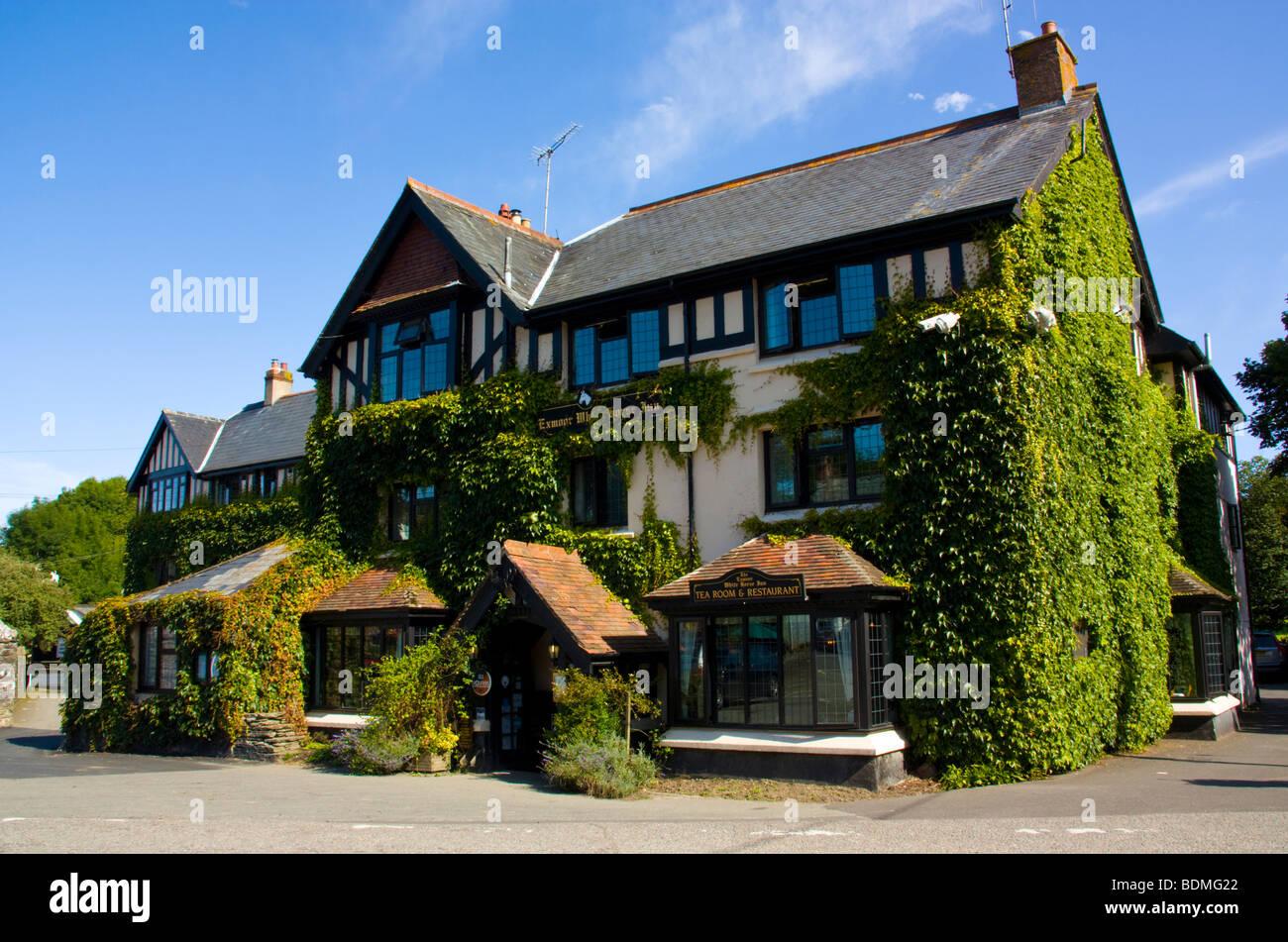 Exmoor White Horse Inn, Exford, Somerset England UK - Stock Image