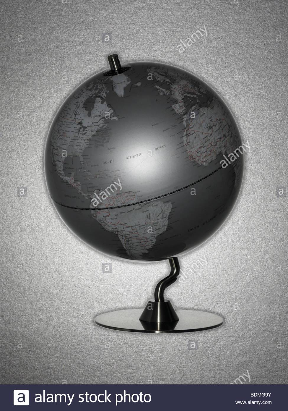 Retro globe - Stock Image