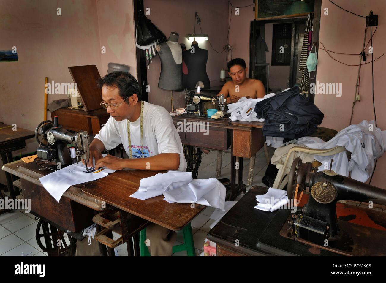 Tailor shop, Sanur, Denpasar, Bali, Indonesia, Southeast Asia - Stock Image