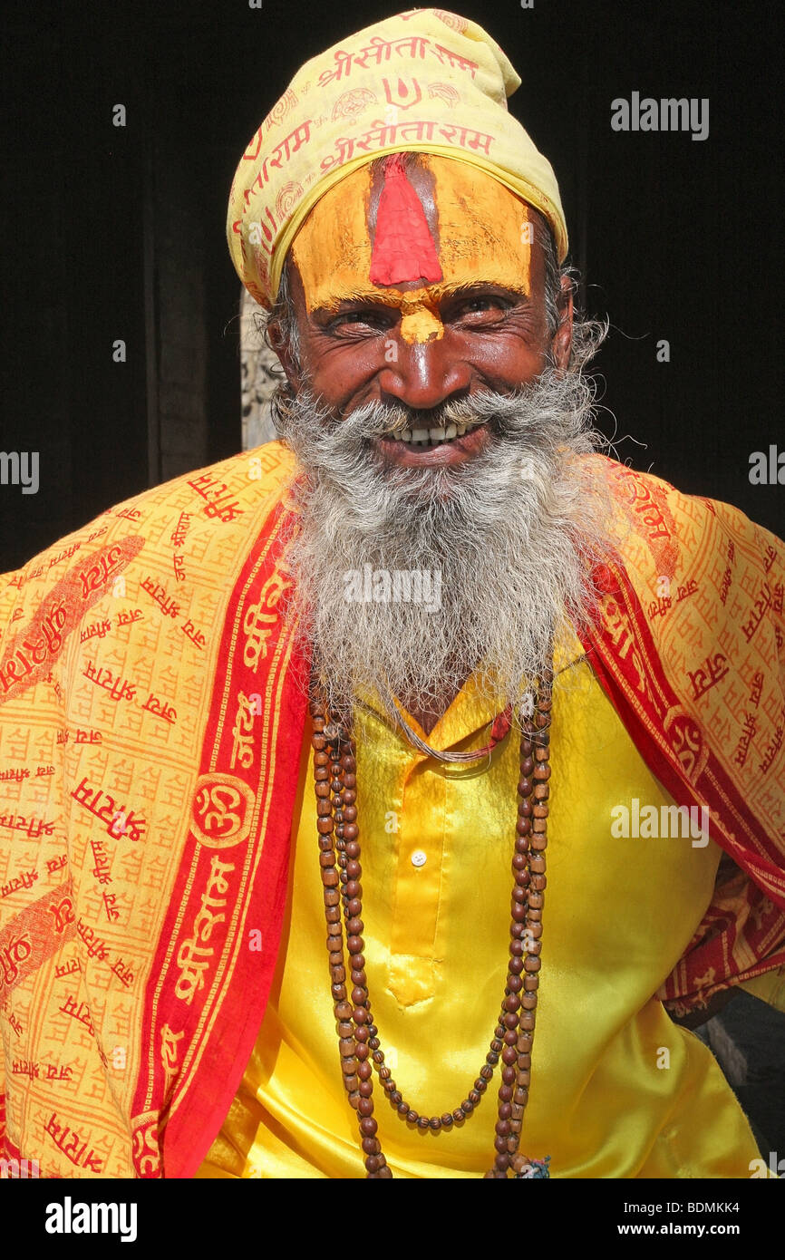 Sadhu - laughing - Stock Image