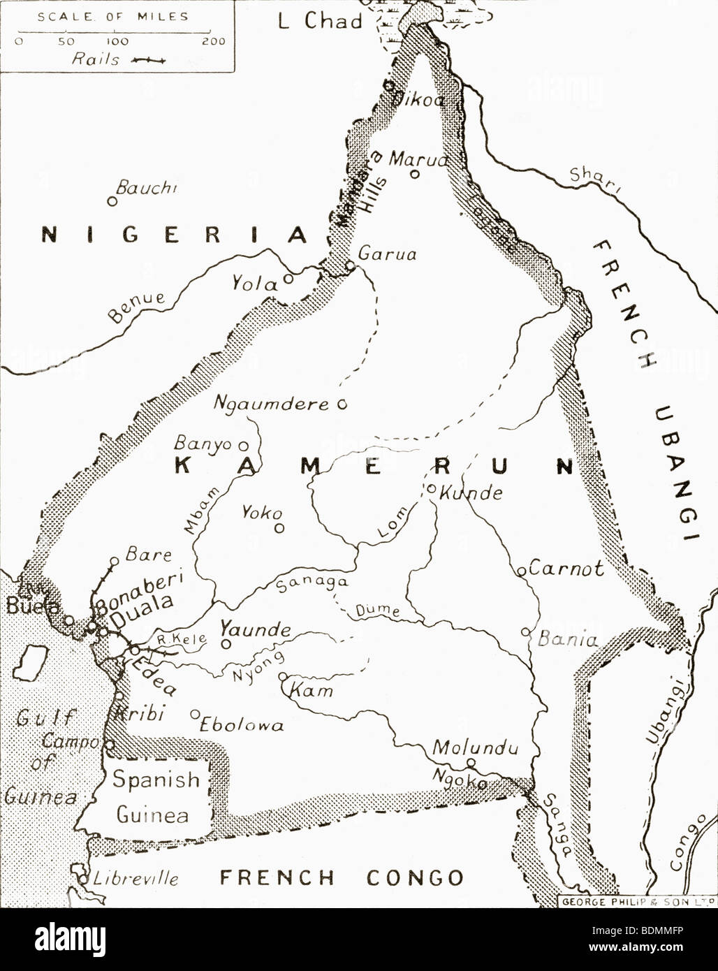 First world war map stock photos first world war map stock images map of the cameroons scene of one of britains campaigns during world war one gumiabroncs Image collections