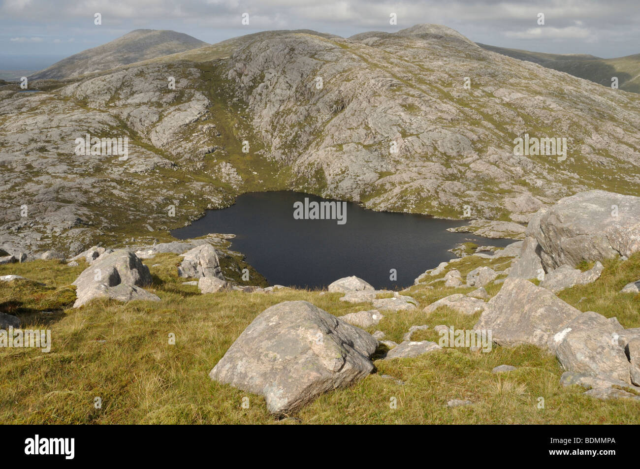 Loch Braighe Griomabhal, Isle of Lewis, Scotland - Stock Image