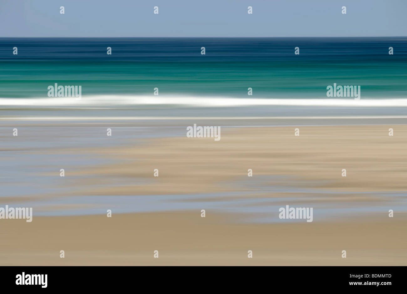 Beach, Cliobh, Isle of Lewis, Scotland (intentional camera movement) - Stock Image