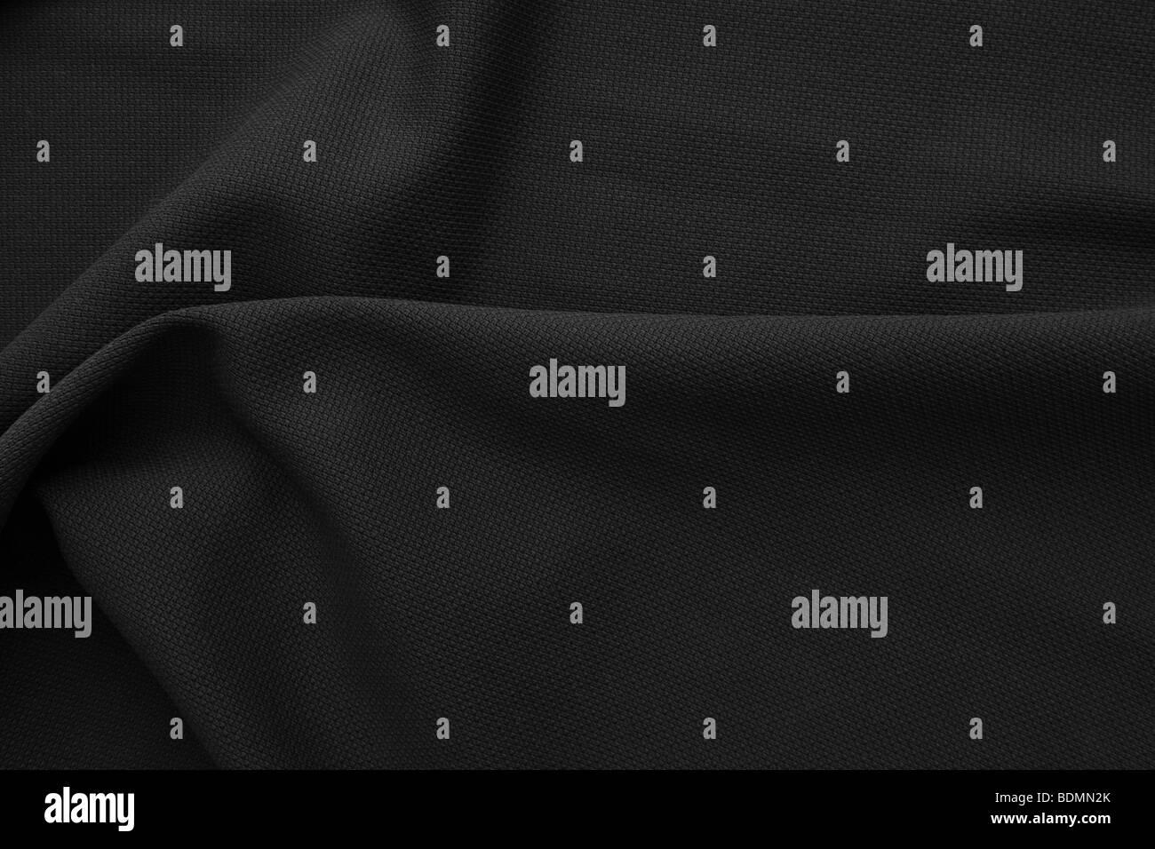 black fabric - Stock Image