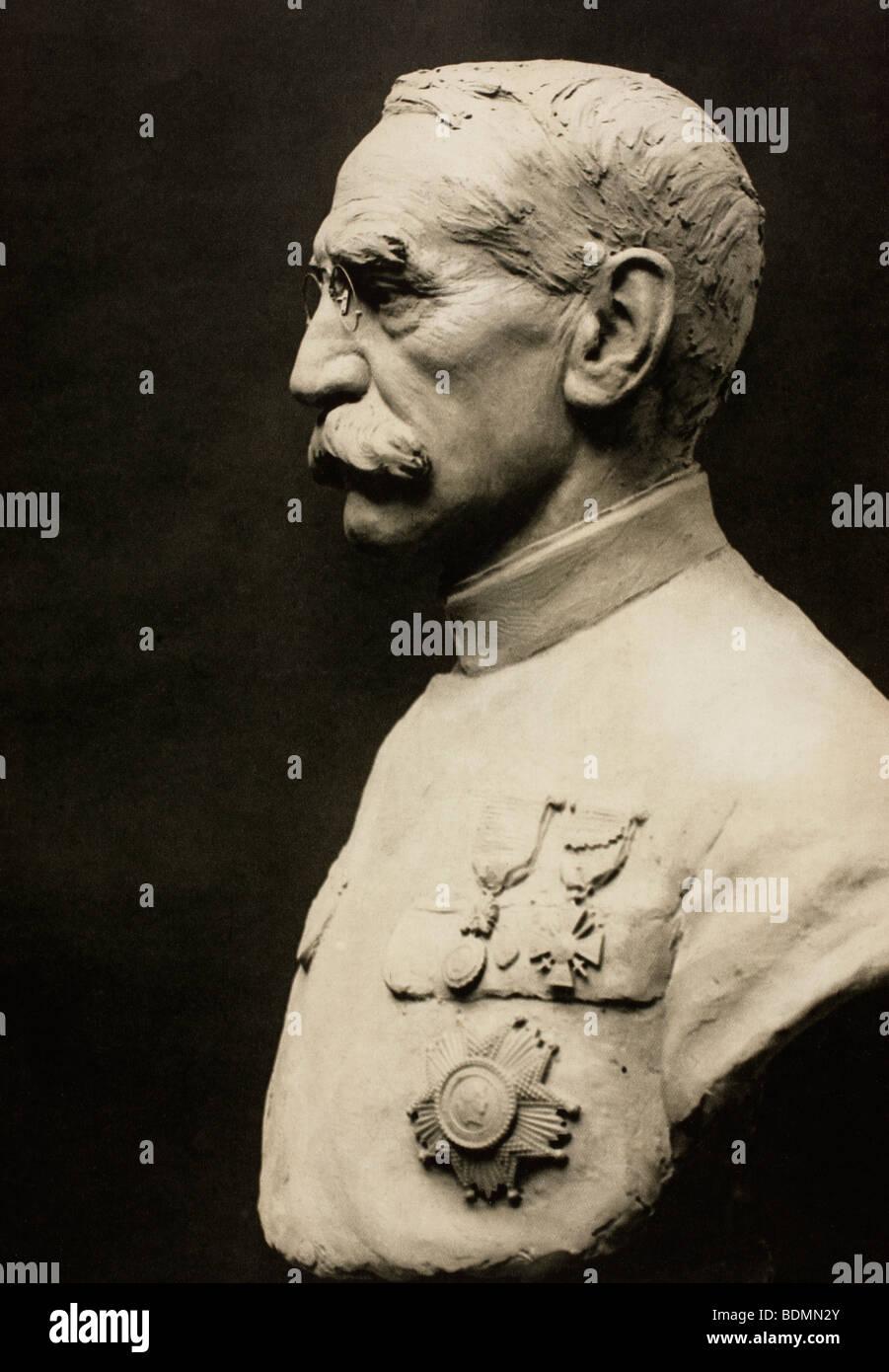 French General Joseph Simon Gallieni 1849 to 1916. - Stock Image