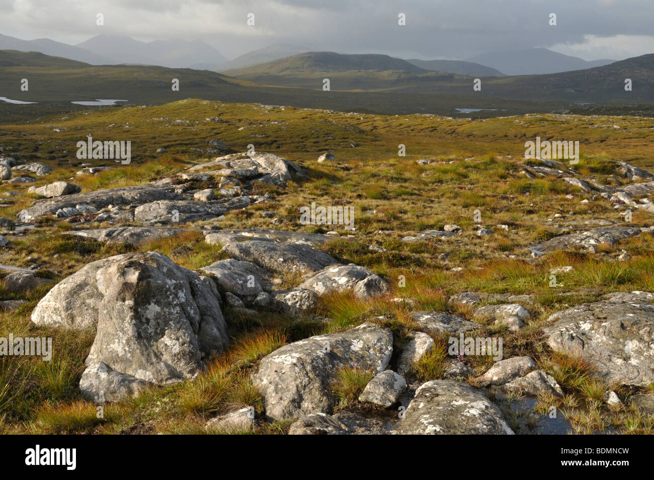 View south from Conostom, Isle of Lewis, Scotland - Stock Image