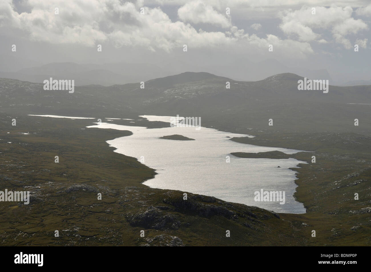 Loch Gruineabhat from Suaineabhal, Isle of Lewis, Scotland - Stock Image