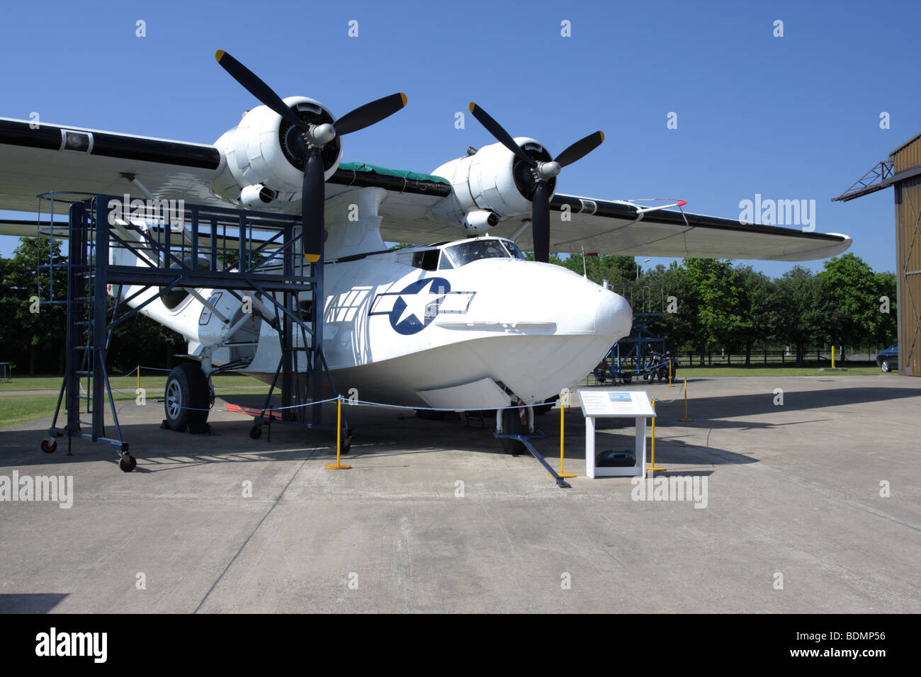 The Consolidated Catalina seaplane,currently on permanent display at Imperial War Museum,Duxford,England. - Stock Image