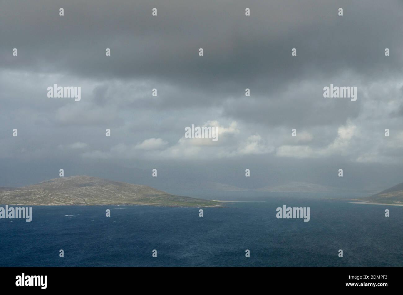Taransay from Ceapabhal, Isle of Harris, Scotland - Stock Image