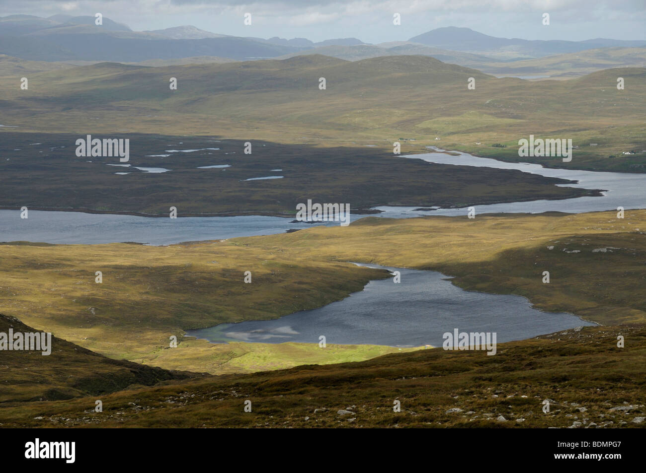 View north west from Guaineamol, Isle of Lewis, Scotland - Stock Image