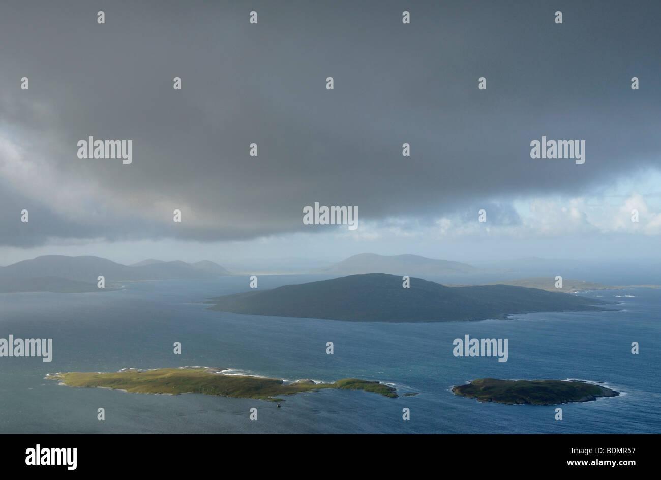 Taransay from Cleiseabhal, Isle of Harris, Scotland - Stock Image