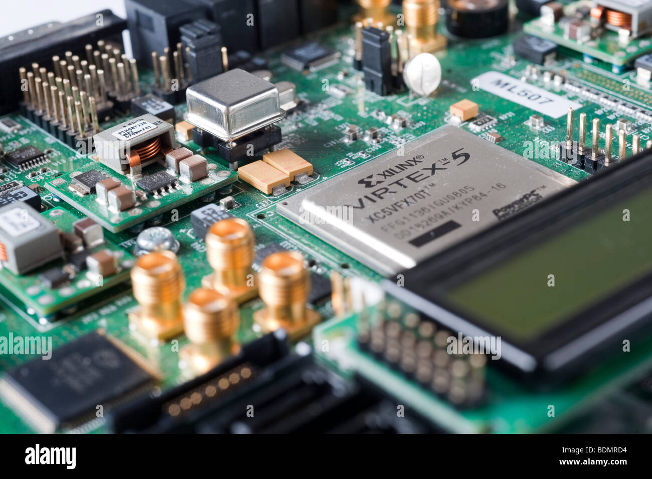 Electronic waste from Old Computers, is a major concern to ecologists around the world - Stock Image