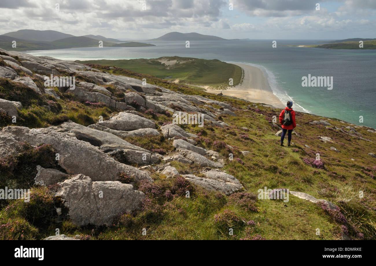 Traigh Losgaintir from Beinn Dhubh, Isle of Harris, Scotland - Stock Image