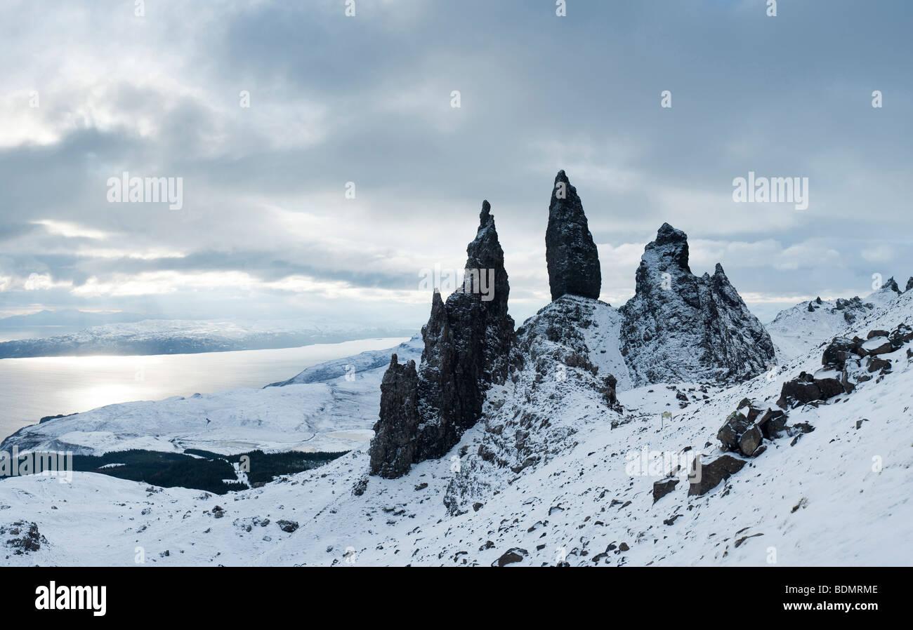 Old Man of Storr, Storr Rocks, Isle of Skye, Inner Hebrides, Scotland, UK - Stock Image
