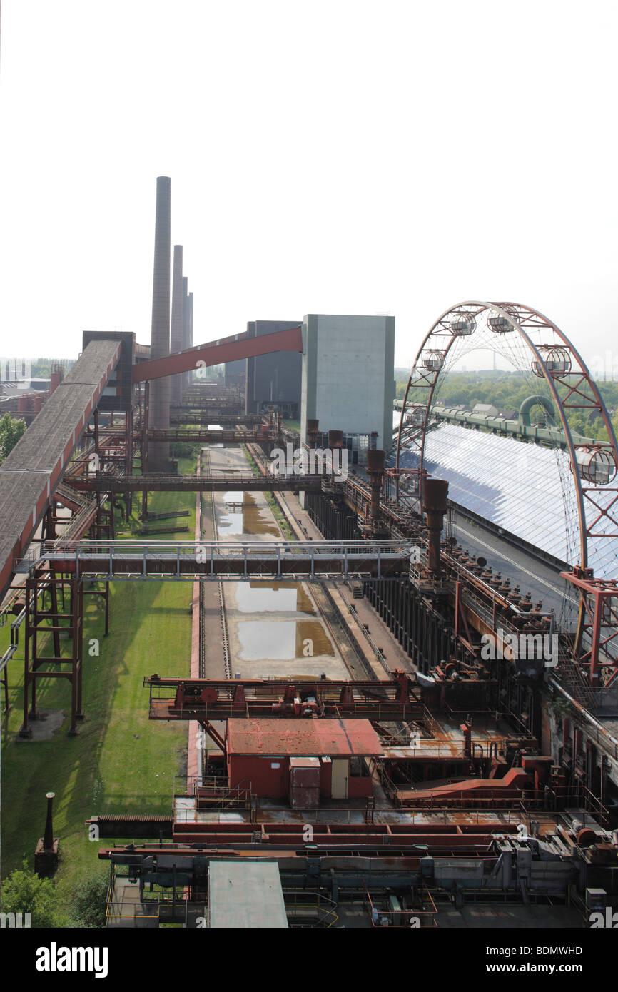 Essen, Kokerei  Zollverein, Blick vom Dach der Mischanlage - Stock Image