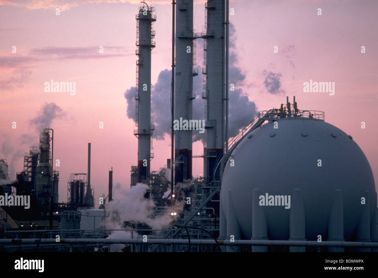 First oil refinery in United States - Stock Image