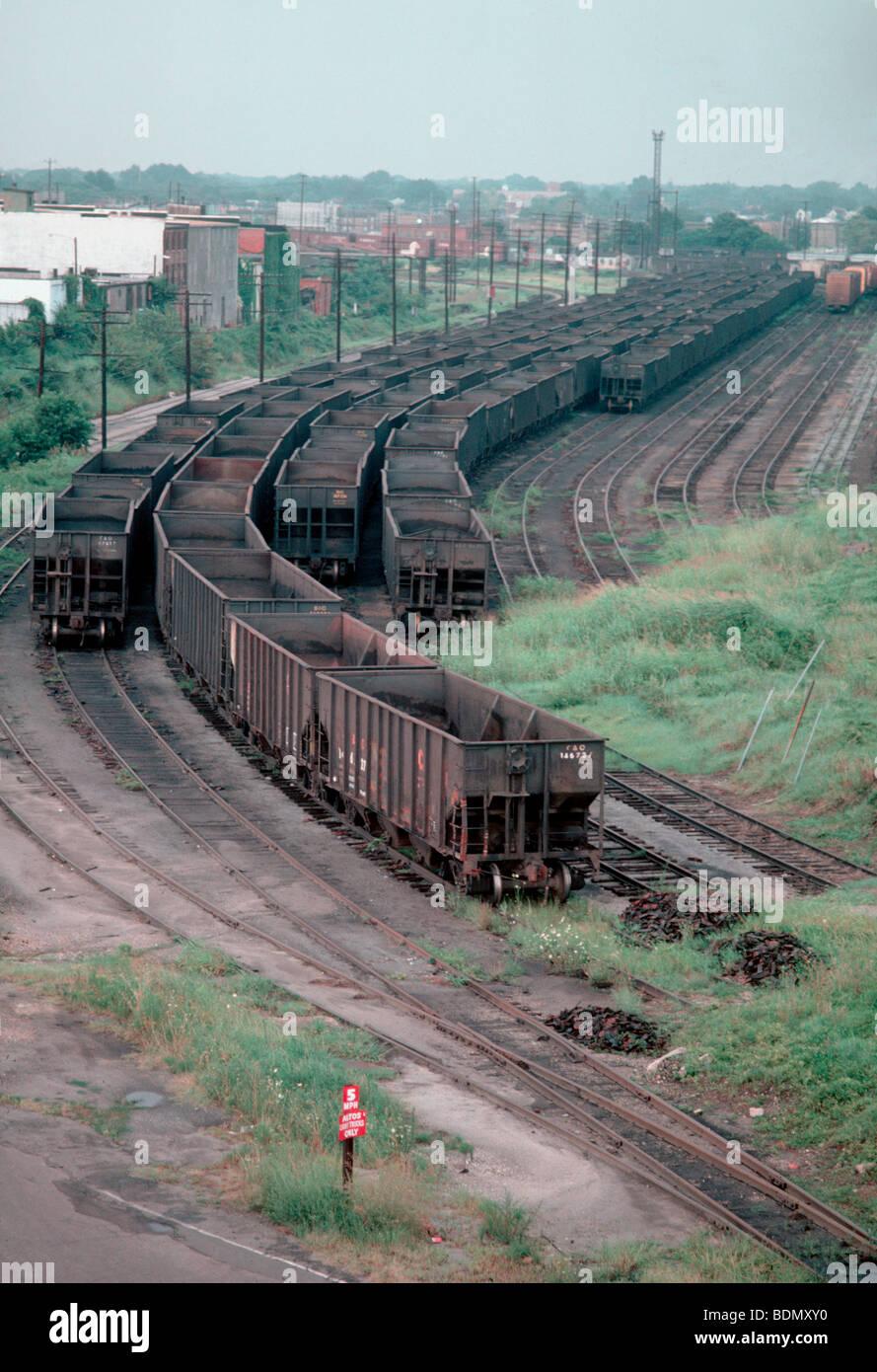 Coal yards loading in Norfolk, VA - Stock Image