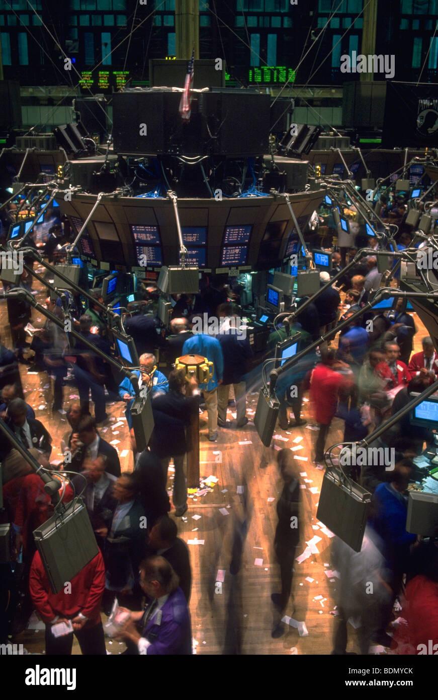 New York Stock Exchange Floor - Stock Image