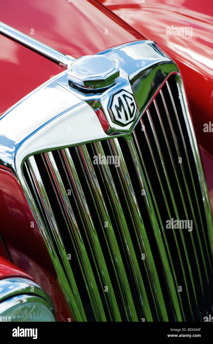 MG TF 1500 classic british car front end - Stock Image
