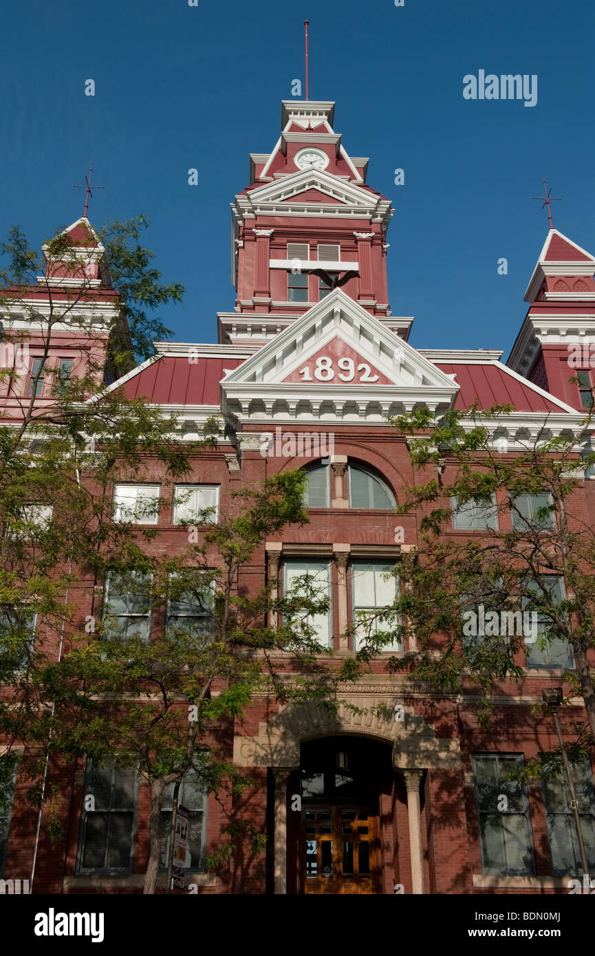 Whatcom Museum of History and Art is located in downtown Bellingham featuring fine art and regional history. Stock Photo