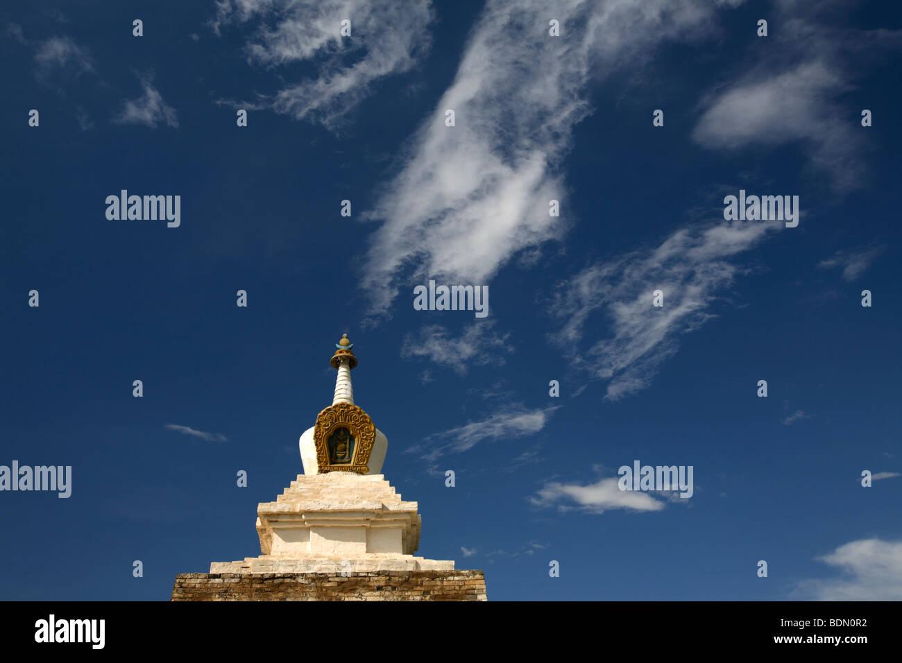 One of the 108 Stupa of Erdene Zuu wall, Karakorum, Mongolia - Stock Image