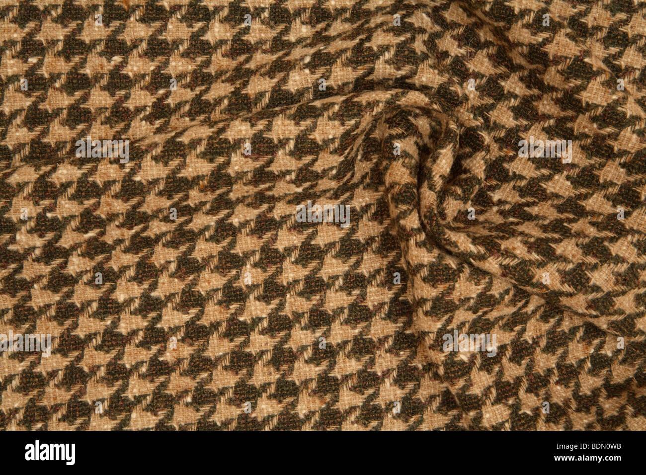 tweed houndstooth - Stock Image