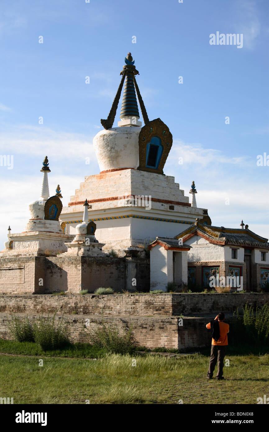 The central stupa of Erdene Zuu monastery, Karakorum, Mongolia - Stock Image