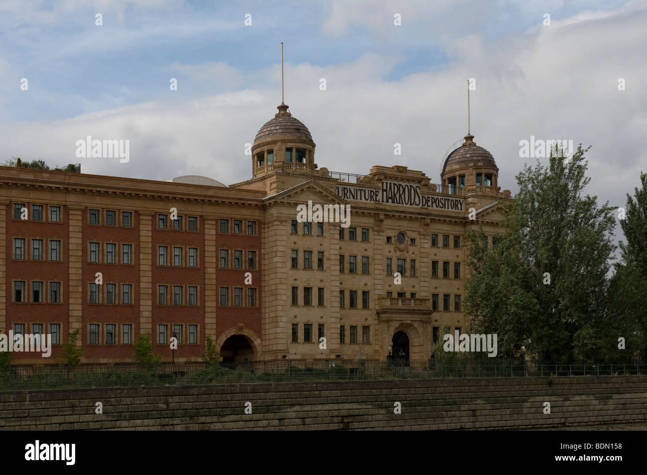 Harrods Depository Village Redevelopment Barnes - Stock Image