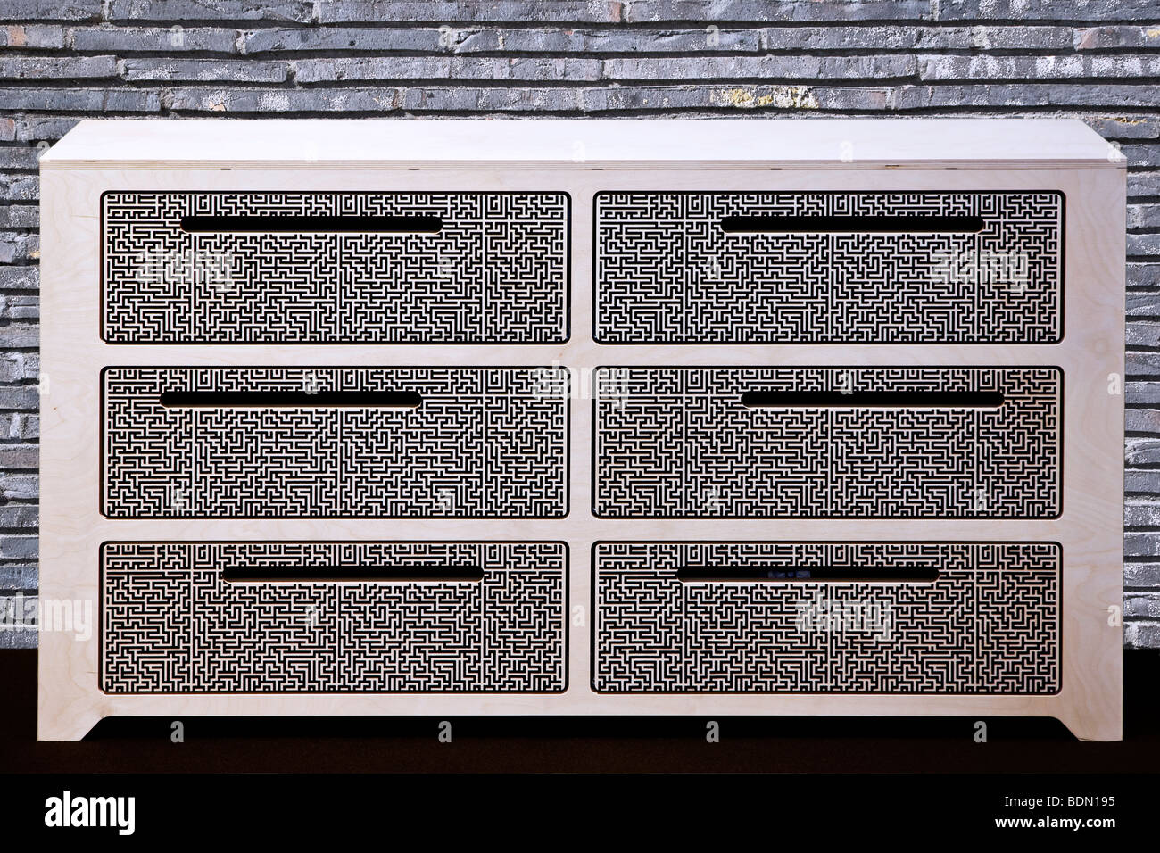 Modern design chest of drawers - Stock Image