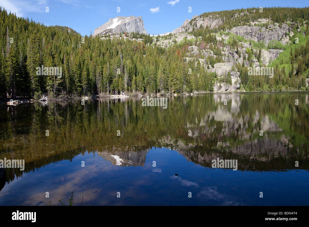 Bear Lake, Estes Park Colorado - Stock Image