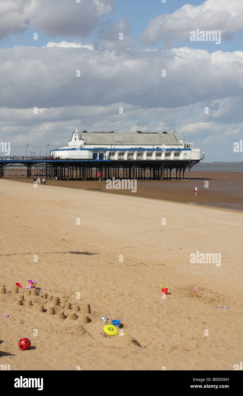 The pier at Cleethorpes, Lincolnshire, England, U.K. - Stock Image