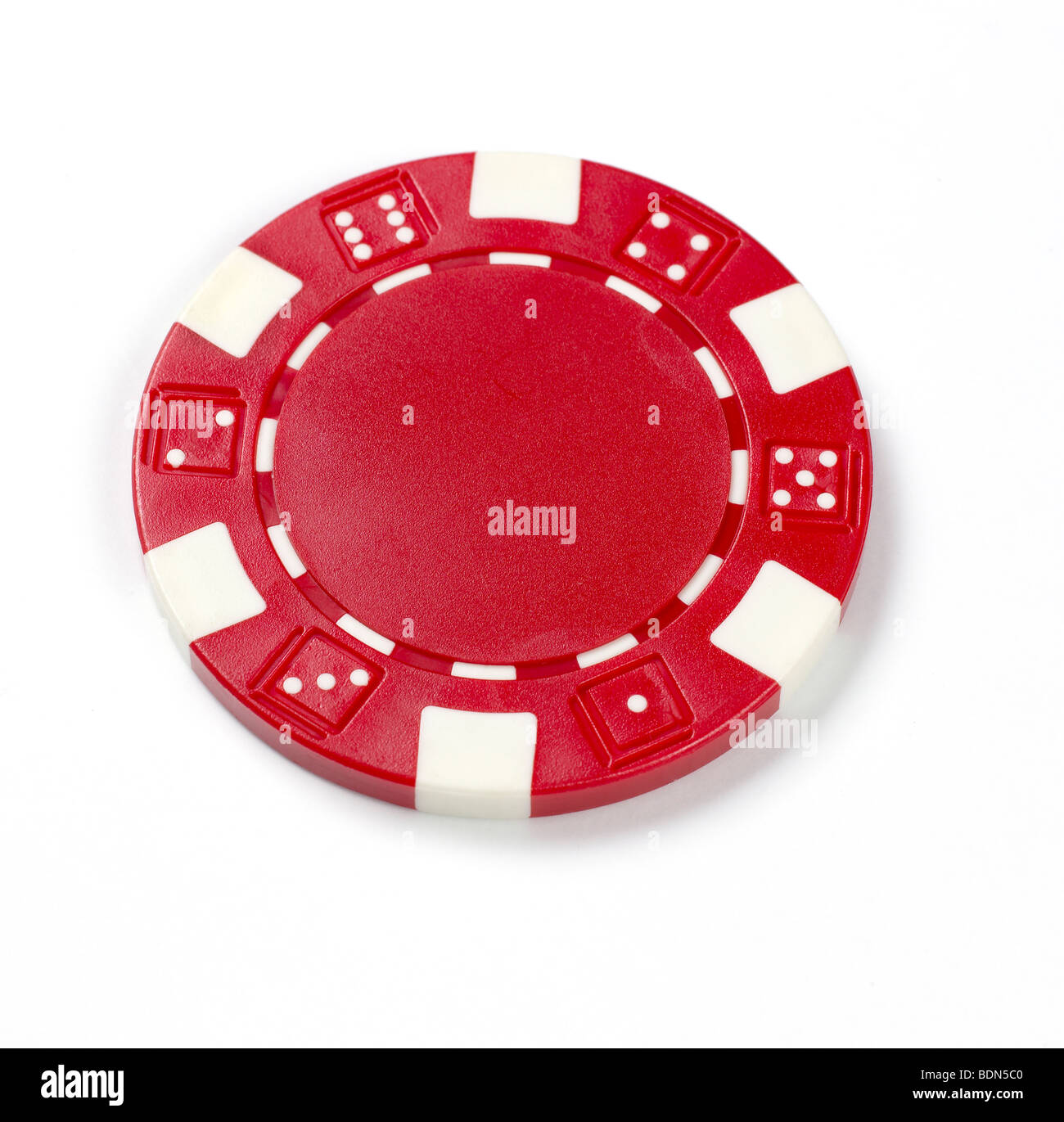 Poker chip - Stock Image