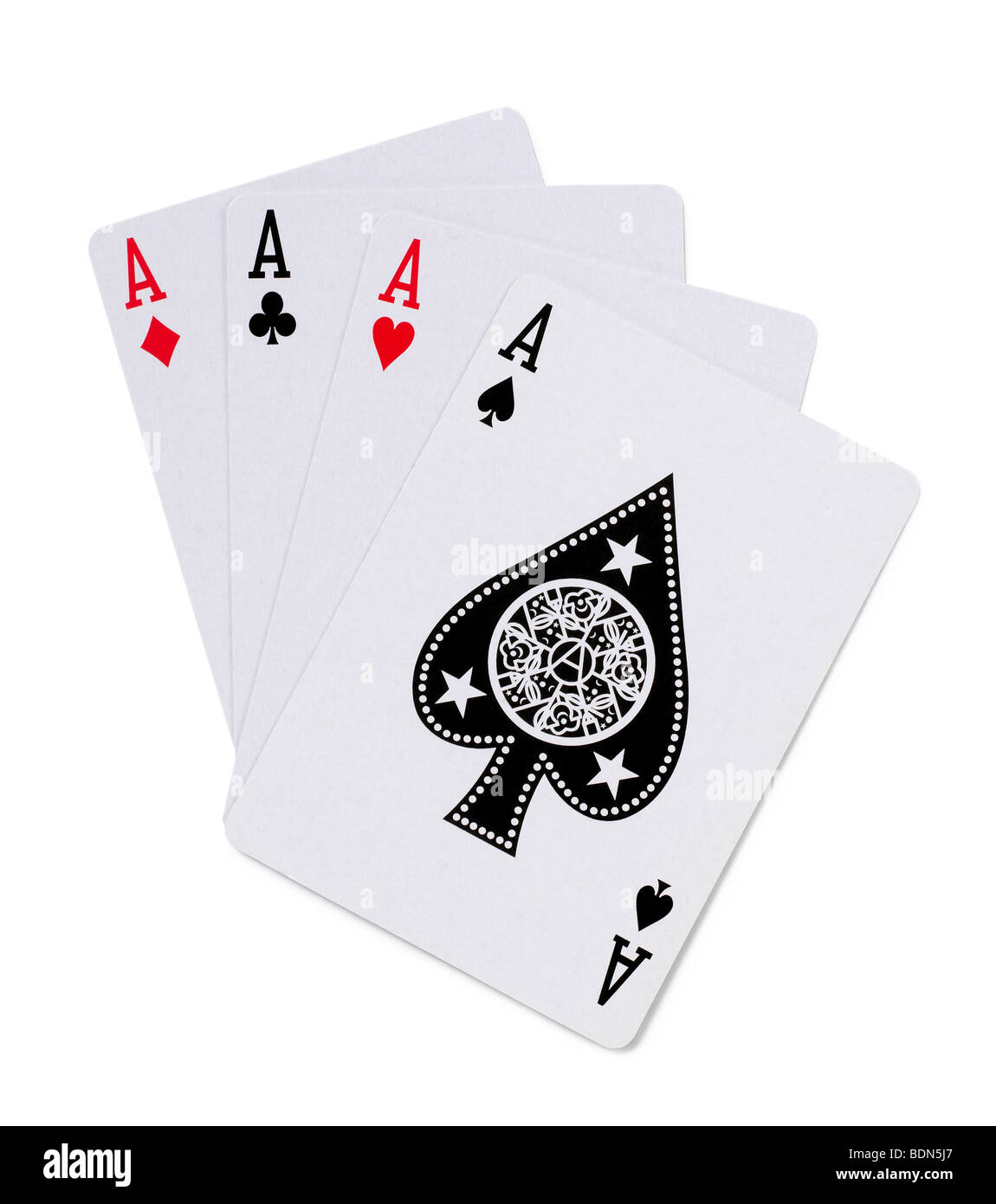 Playing cards 4 aces - Stock Image
