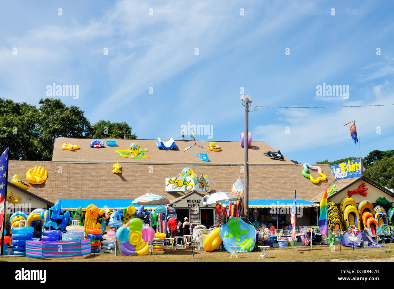 Cape Cod beach toys store in Eastham Stock Photo