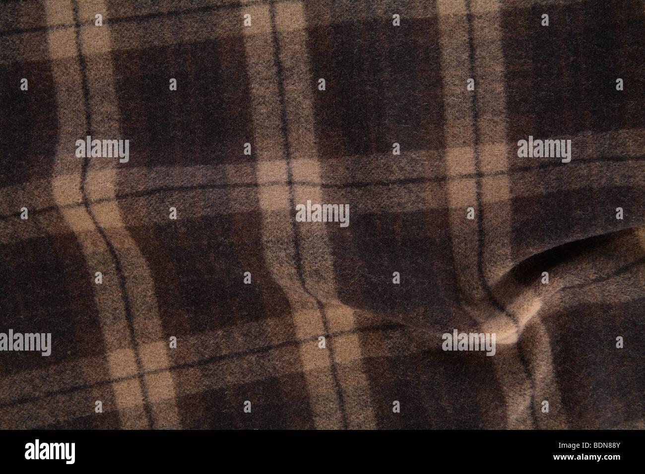 Plaid flannel - Stock Image