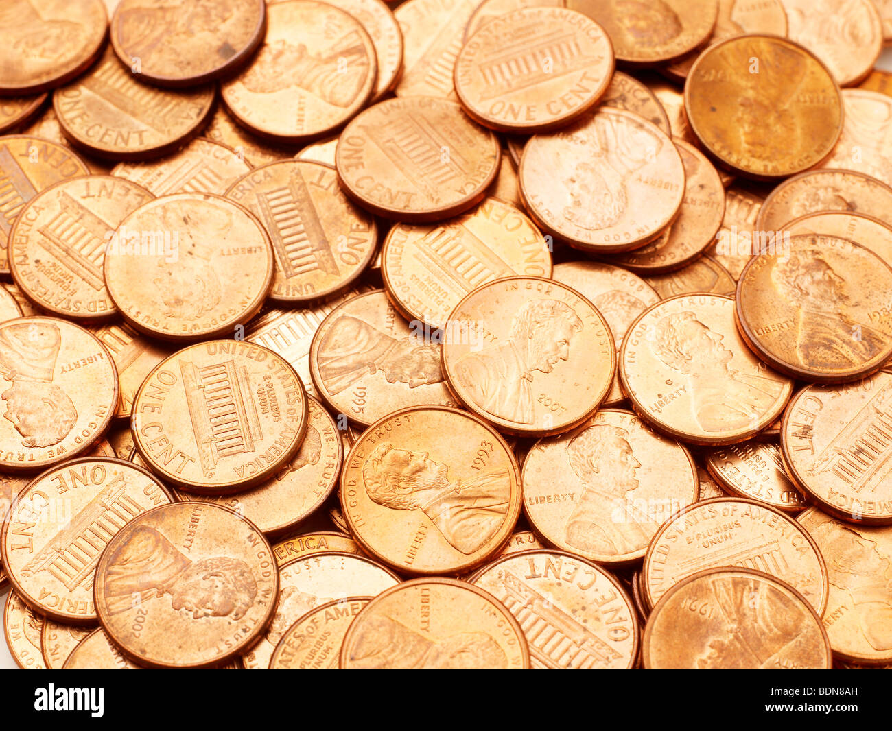 U.S. Coins Pennies Stock Photo