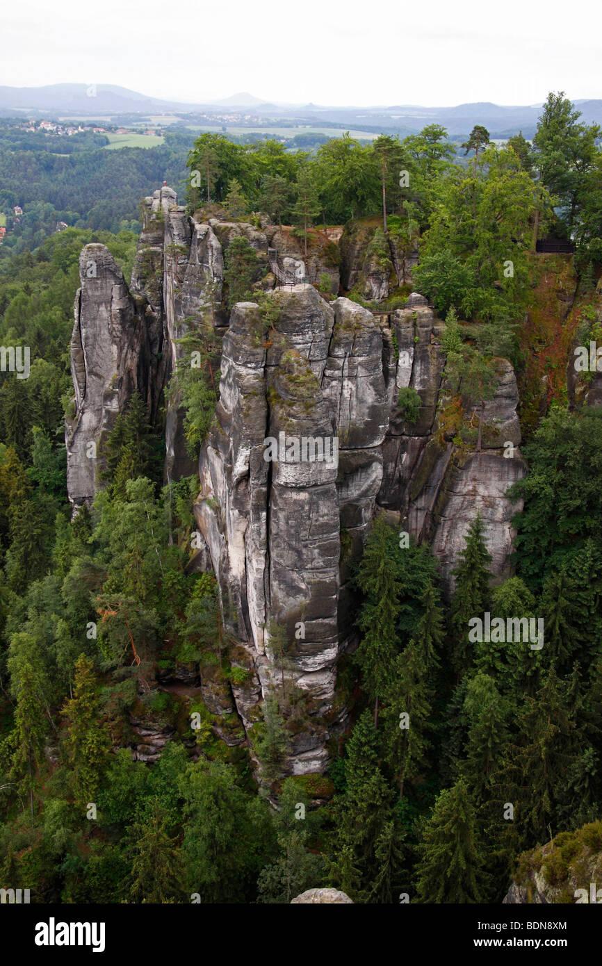 Sächsische Schweiz Elbsandsteingebirge Germany - Stock Image