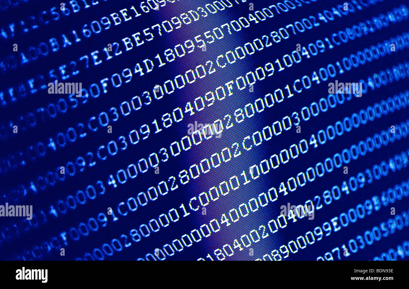 Binary code an abstract background - Stock Image