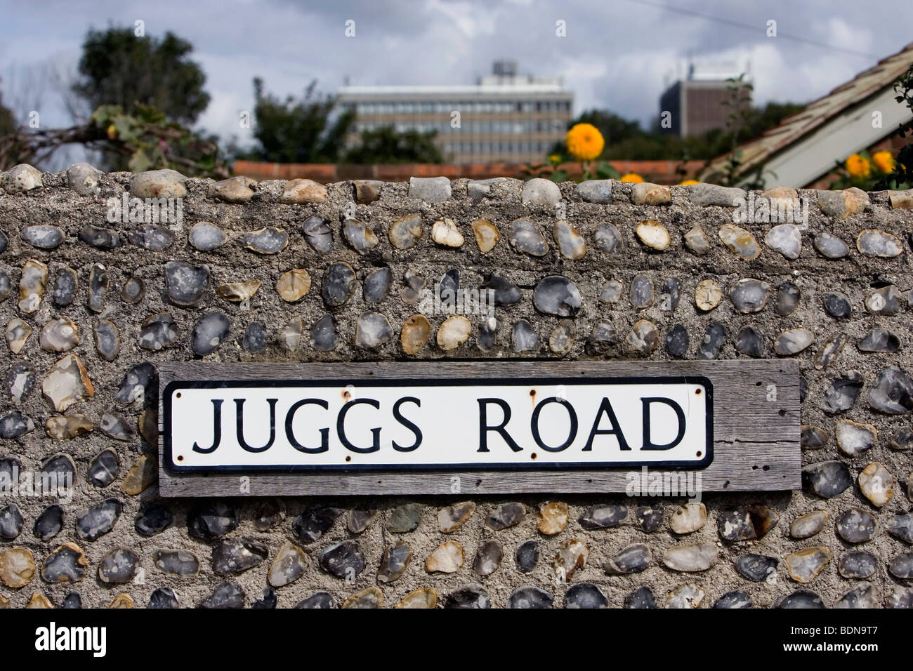 A funny road name sign in Lewes, East Sussex, UK. - Stock Image