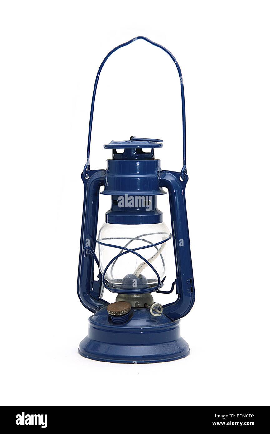 Hot blast kerosene lantern on isolated background - Stock Image