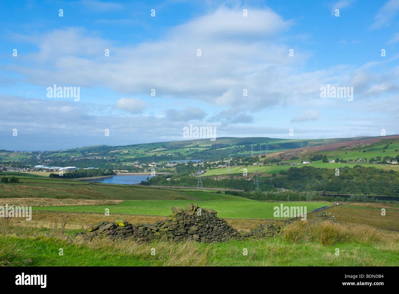 Tintwistle, Hadfield and Bottoms Reservoir, Longdendale, Peak National Park, Derbyshire, England UK - Stock Image