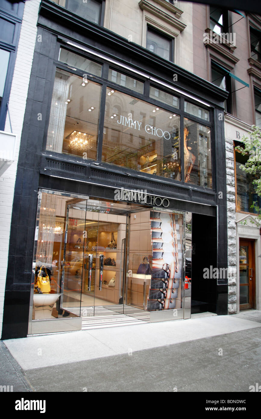 a9f2b0a950fc The store front of the Jimmy Choo fashion store on Madison Avenue ...