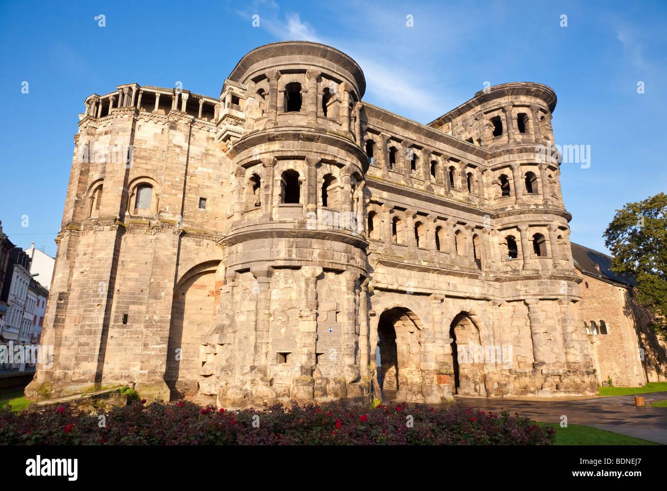 Porta Nigra in Trier Germany Europe - Stock Image