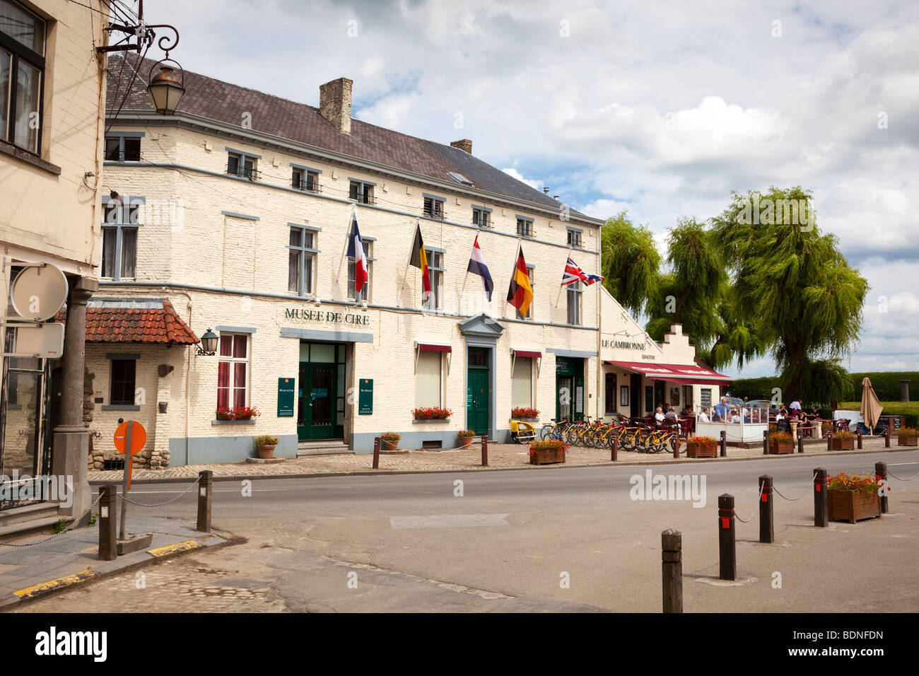 Waxworks museum and restaurant on the site of the Battle of Waterloo Belgium Europe Stock Photo