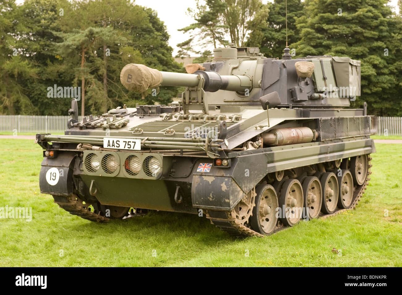 An Abbot 105mm Self propelled Gun used by British Forces - Stock Image