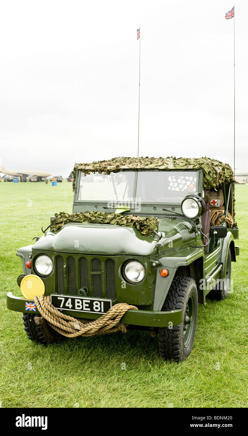 A military Austin Champ 4WD vehicle used by British armed forces - Stock Image