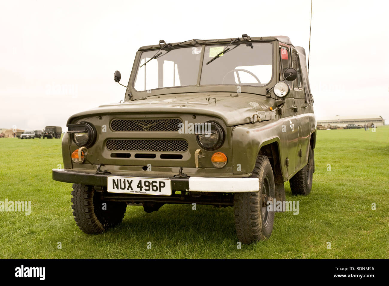 A Russian UAZ 469 4WD vehicle used by Soviet forces - Stock Image