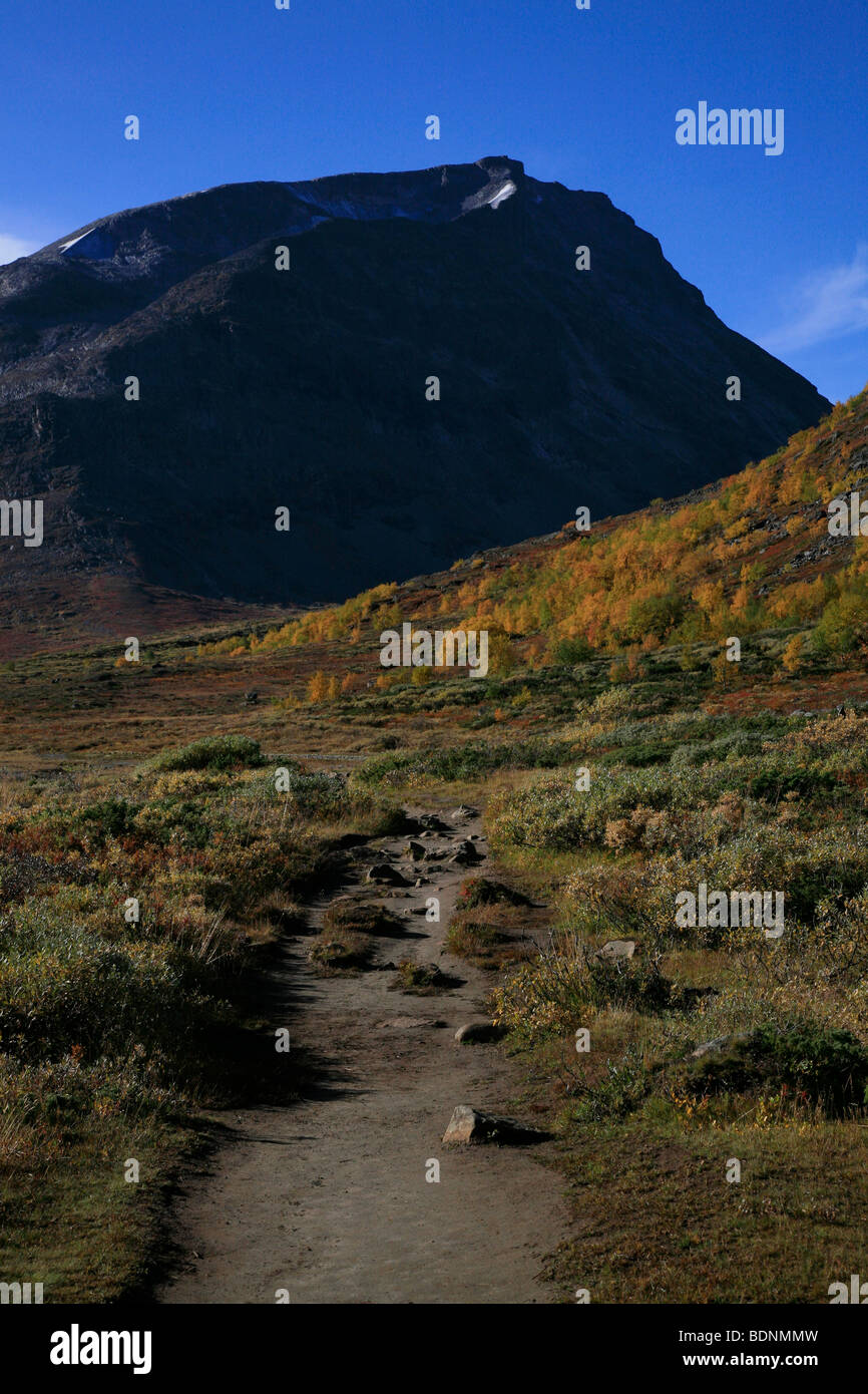 The Visdalen route to Galdhøpiggen in the Jotunheimen National Park, Oppland, Norway, Scandinavia, North Europe. - Stock Image