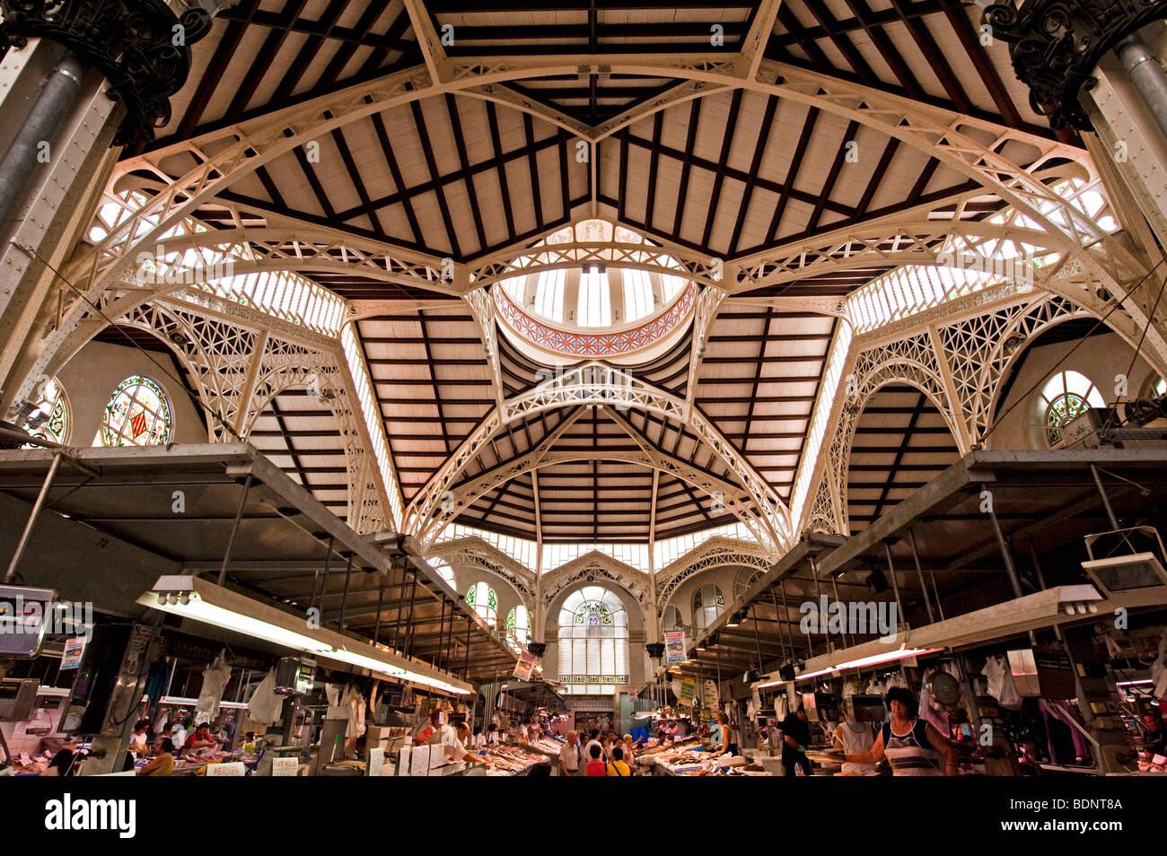 The Mercat Central market in Valencia - Stock Image