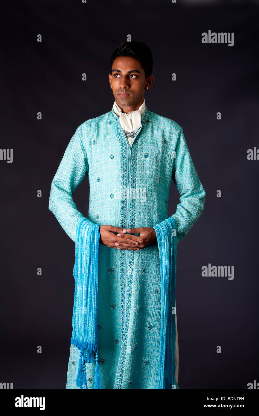 Beautiful authentic Indian hindu man in typical ethnic groom attire ...